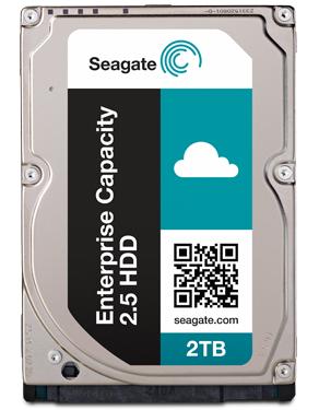 SEAGATE Enterprise Capacity 2.5 2TB HDD 512Emulation 7200rpm 128MB cache 6,4cm 2,5Zoll SATA 6Gb/s 24x7 Dauerbetrieb BLK