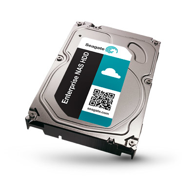 SEAGATE Enterprise NAS HDD 6TB 7200rpm 6Gb/s SATA 128MB cache 8,9cm 3,5Zoll 24x7 f�r NAS und RAID Rackmount Systeme BLK