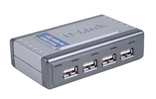 D-LINK 4xUSB2.0 4Port USBHub 480Mbps PC MAC