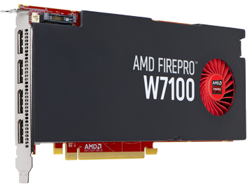 FUJITSU AMD FirePro W7100 8GB Anschluesse:4x DP PCIe x16 ohne Adapter