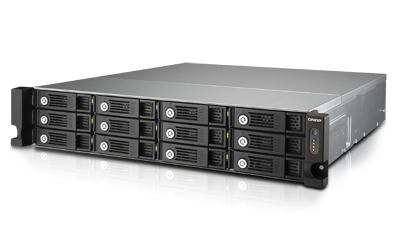 QNAP TVS-1271U-RP i3 8G NAS Rack 12-Bay Intel Core i3-4150 3.5 GHz Dual Core 8GB RAM 4Gb LAN  10G-ready 4xUSB3.0 3xUSB2.0 ohne Rail