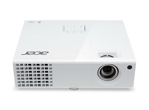 ACER P1387W DLP Projektor 4500 ANSI Lumen WXGA 1280x800 3D 17000:1 HDMI/MHL 2xD-Sub Cinch-Video S-Video RS232 USB B mini