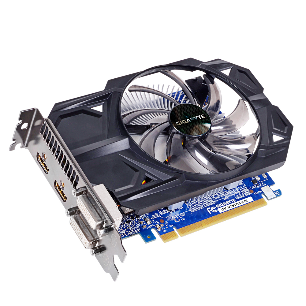 GIGABYTE GeForce GTX 750TI 2048MB GDDR5 128bit PCI-E 3.0 HDMI Dual Link DVI-I/D HDCP aktiv