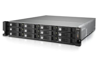 QNAP TVS-1271U-RP i7 32G NAS Rack 12-Bay Intel Core i7-4790S 3.2 GHz Quad Core 32GB RAM 4Gb LAN  10G-ready 4xUSB3.0 3xUSB2.0 ohne Ra