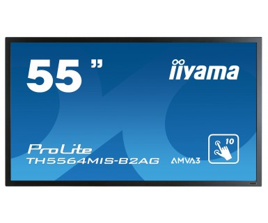 IIYAMA ProLite TH5564MIS-B2AG 138,8cm 54,6 Zoll AMVA3 LED-Backlit Full HD 10 Punkt Touch DVI 2xHDMI Display Port 2x 12W Lautsprecher