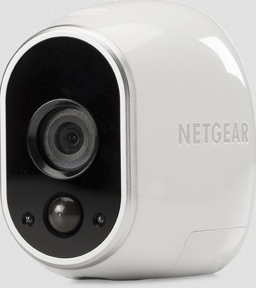 NETGEAR Arlo VMS3130-100EU Smart Home 1 HD-Kamera-Sicherheitssystem - kabellos, Indoor/Outdoor, Bewegungssensor, Nachtsicht - weiss