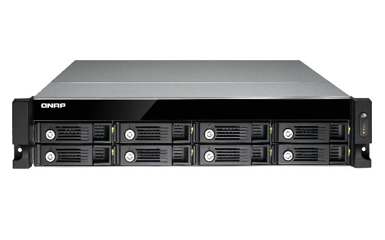 QNAP TS-853U-SP 4G NAS Rack 8-Bay Intel QuadCore Celeron 2.0GHz 4GB RAM 4 Gb LAN 4xUSB3.0 3 ohne RailKit