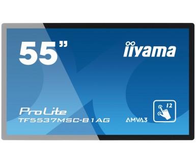 ProLite TF5537MSC-B1AG 138,8cm 55Zoll Full HD Edge to Edge 12 Punkt Touch Sicherheitsglas VGA DVI HMDI speaker