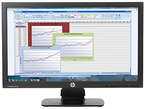 HP ProDisplay P222va 54,6cm 21,5Zoll VA LED Backlight 1920x1080 8ms 250cd/m2 VGA DP