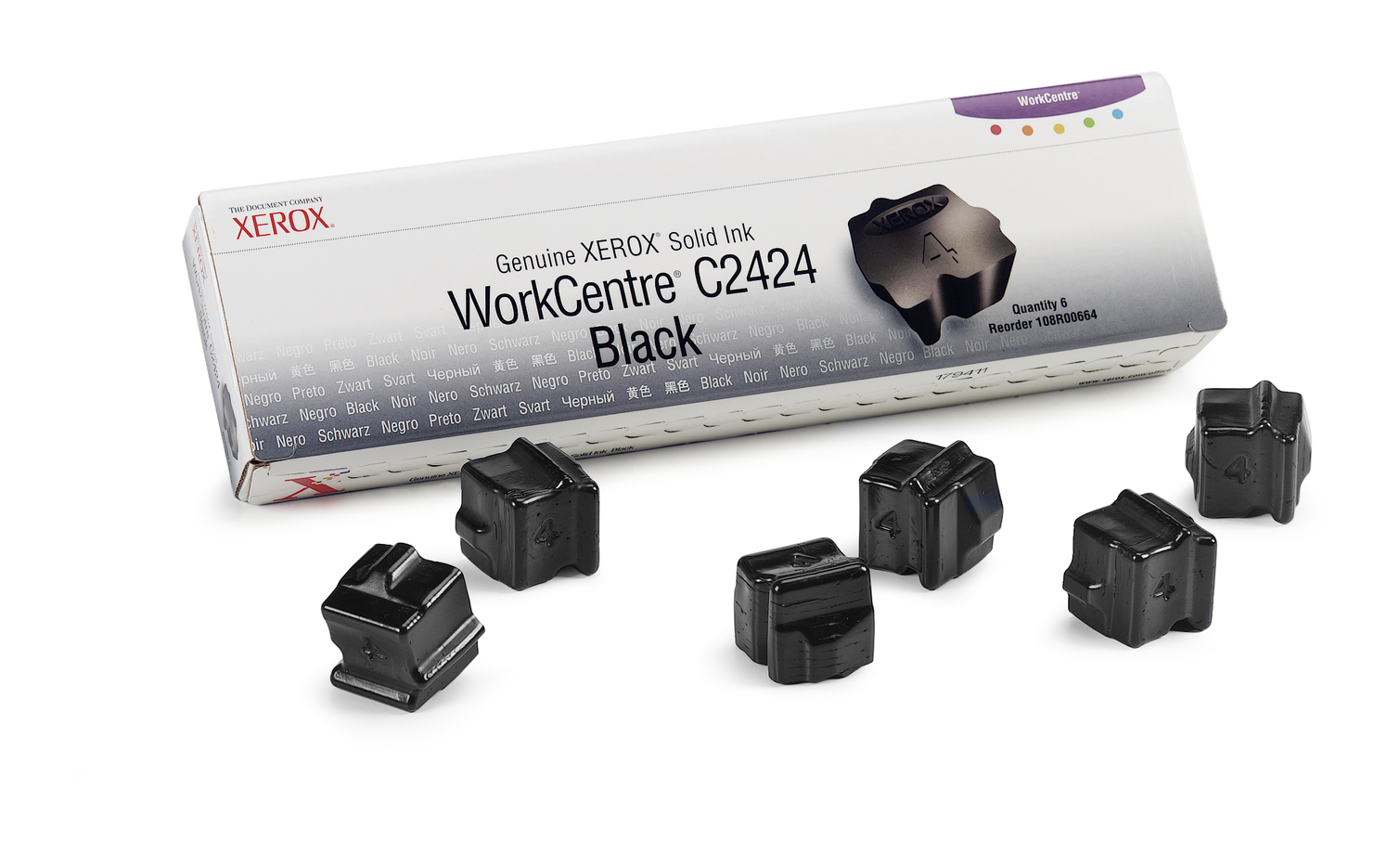 Xerox Genuine WorkCentre C2424 Solid Ink Black (6 sticks)