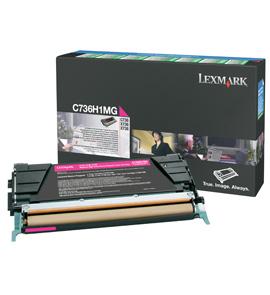 LEXMARK C736,  X736,  X738 Toner magenta hohe Kapazität 10.000 Seiten 1er-Pack Rückgabe