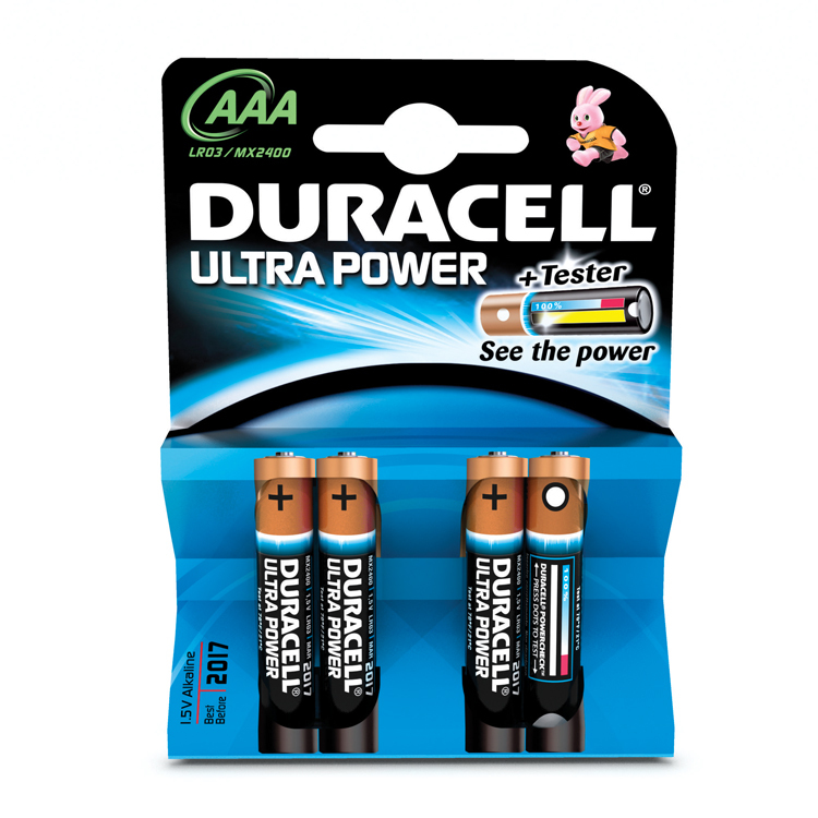 Batterie Duracell Ultra Power - AAA (MN2400/LR03)       4St.