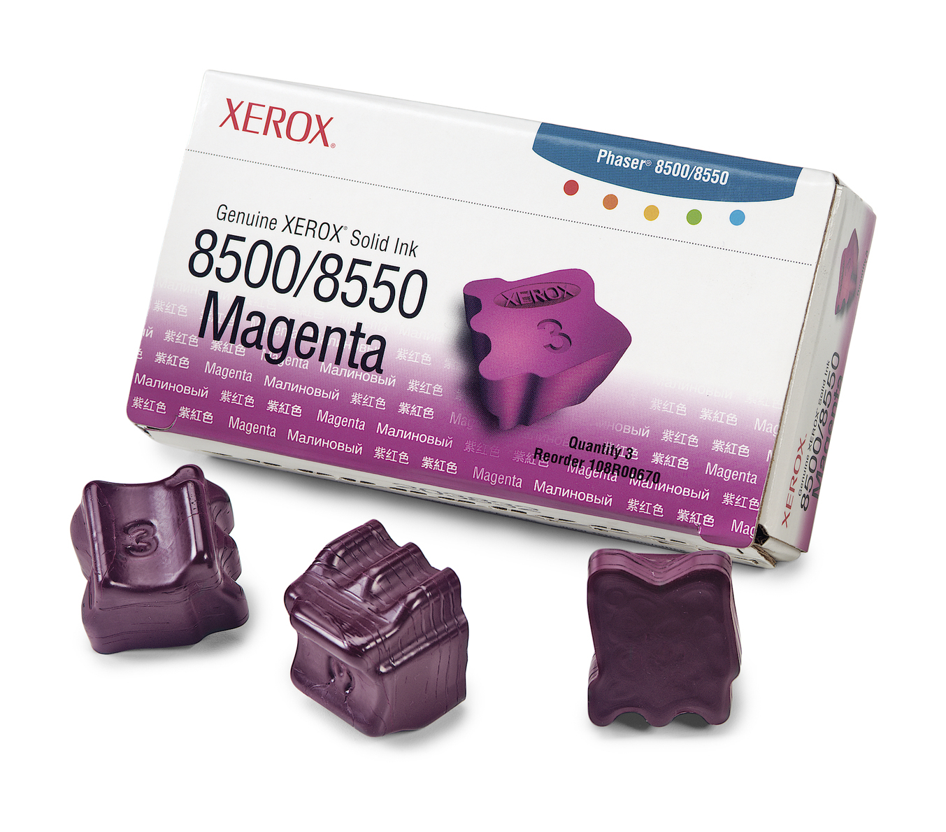 Ph8500/8550 Solid Ink 3 sticks magenta
