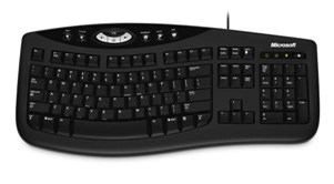 PC, Black, Comfort Curve Keyboard 2000 (USB)