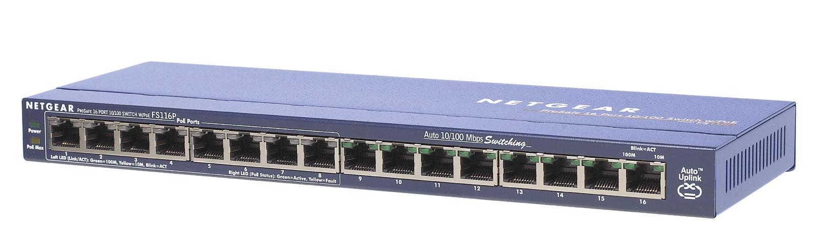 NETGEAR Switch ProSafe 16x10/100 8xPoE 802.3af