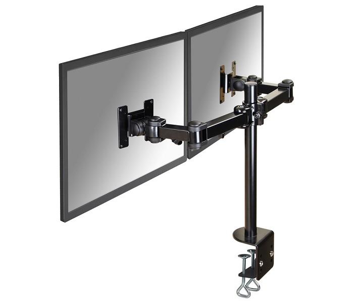 NEWSTAR FPMA-D960D Tischhalterung universelle Halterung mit 3 Drehpunkten fuer 2 LCD/LED/TFT-Bildschirme 26 Zoll 65 cm