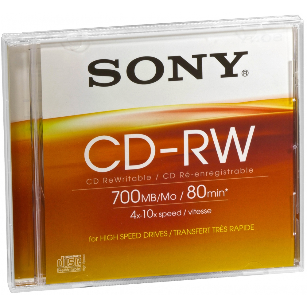 High Speed CD-ReWritable 700 MB; 80 min.The ultimate CD-RW media choice; combining massive 700 MB capacity with high speed (4x-10x) compatibility. image