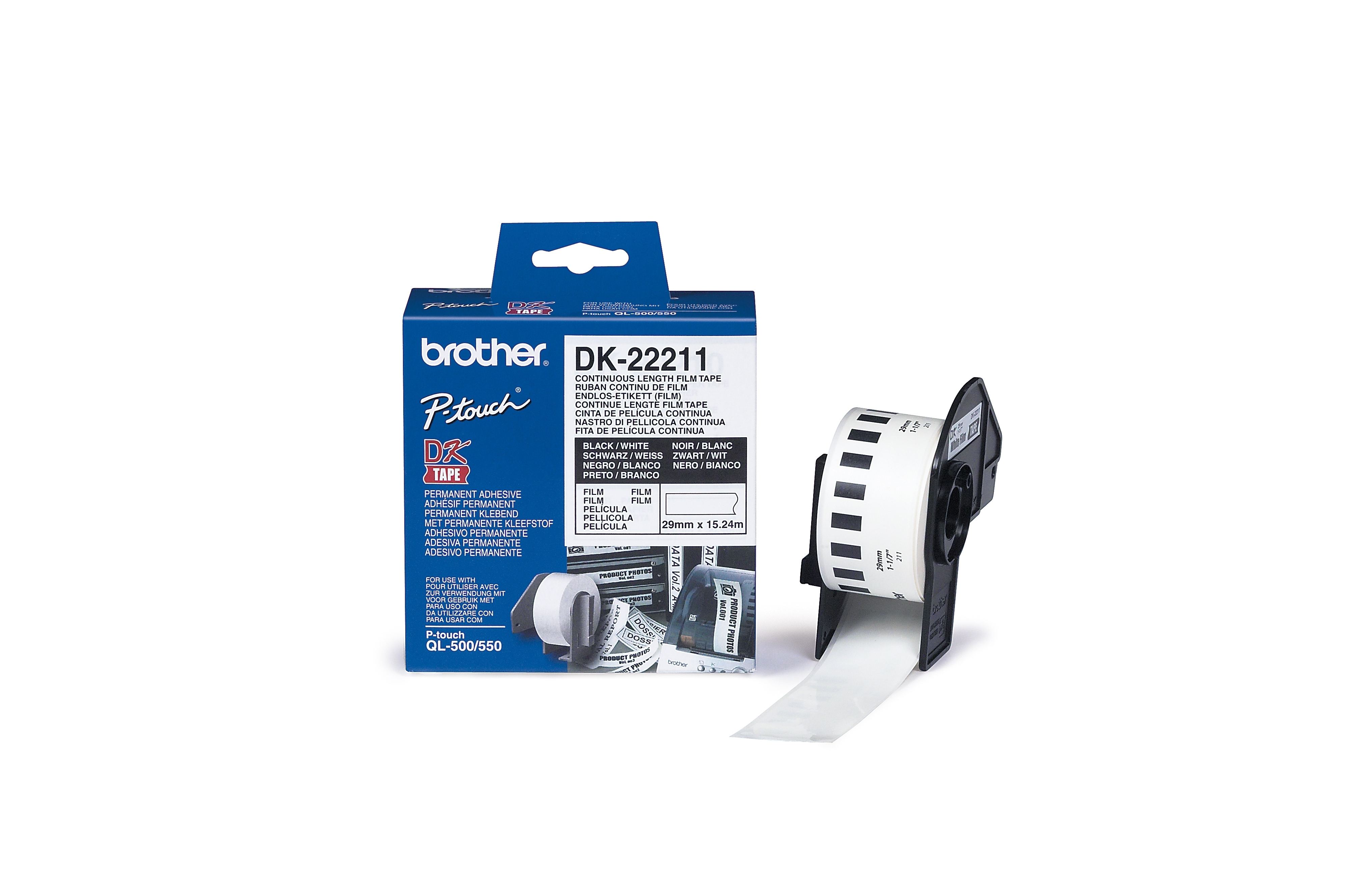BROTHER P-Touch DK-22211 weiss continue length film 29mm x 15.24m