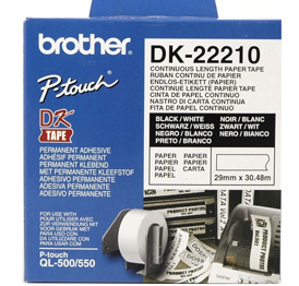 BROTHER P-Touch DK-22210 continue length Papier 29mm x 30.48m