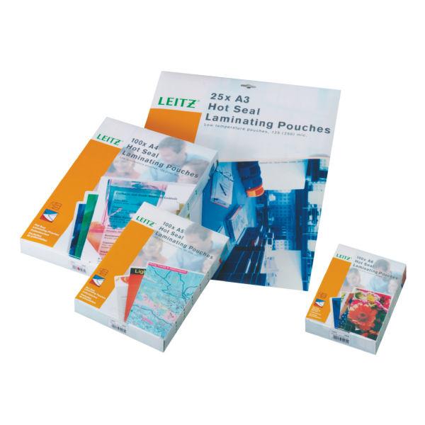 LEITZ Folientaschen 80mic A5 100St Heisslaminierfolien perfekte Versiegelung garantiert Schutz vor Schmutz und Feuchtigkeit