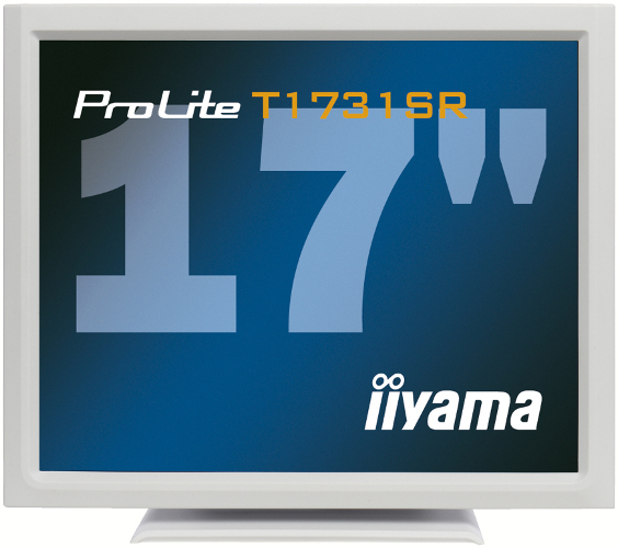 IIYAMA ProLite T1731SR-W1 43cm 17Zoll Touch Resistiv 5ms DVI USB 200cd/m  Lautsprecher weiss