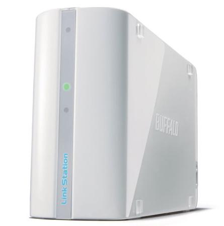 BUFFALO LinkStation Mini 1TB RAID 0/1 6,4cm 2,5Zoll Festplatte Compact Multimedia Network Storage weiss