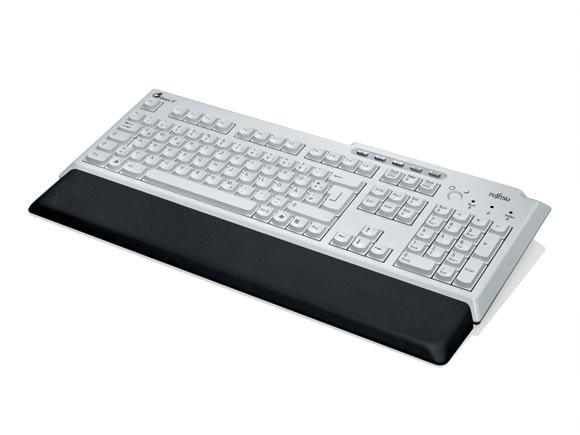 FUJITSU KBPC PX ECO USB bright light grey/black Handauflage 5 Komfort Tasten USB Kabel 2m inklusive(DE)