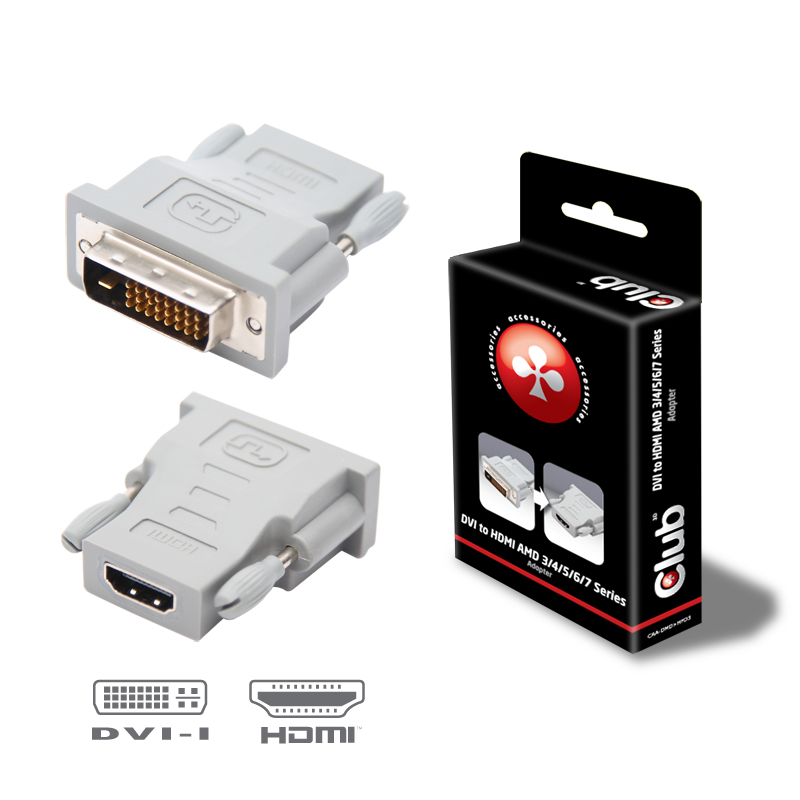 Club3D Adapter DVI > HDMI St/Bu retail