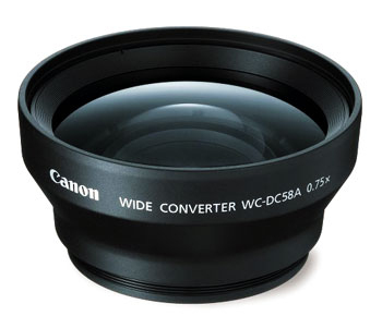 Camera lens Canon Wide Converter WC-DC58A