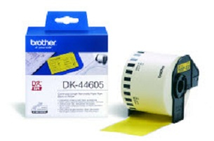 BROTHER P-Touch DK-44605 removable gelb thermal Papier 62mm x 30.48m