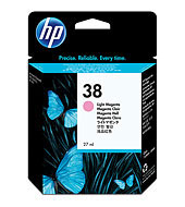 HP 38 Original Tinte hell magenta Standardkapazität 27ml 440 fotos 1er-Pack mit Vivera Tinten