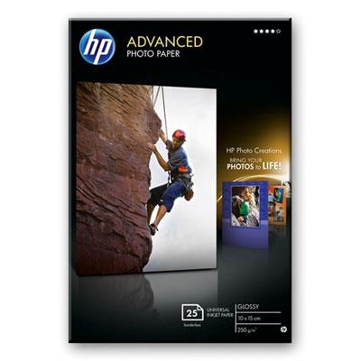 HP Advanced Photo Paper, glanzend, 25 vel, 10 x 15 cm zonder rand