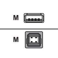 VALUE USBKabel USB2.0 A/B m/m 1,8m beige
