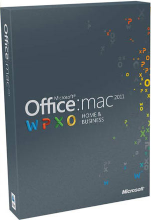 Microsoft MS Office Mac Home Business 2011 1Pack DVD (DE)