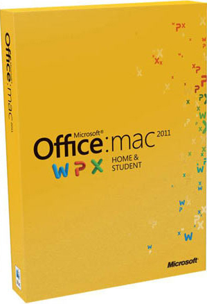 Microsoft MS Office Mac Home Student 2011 FamilyPack DVD (DE)