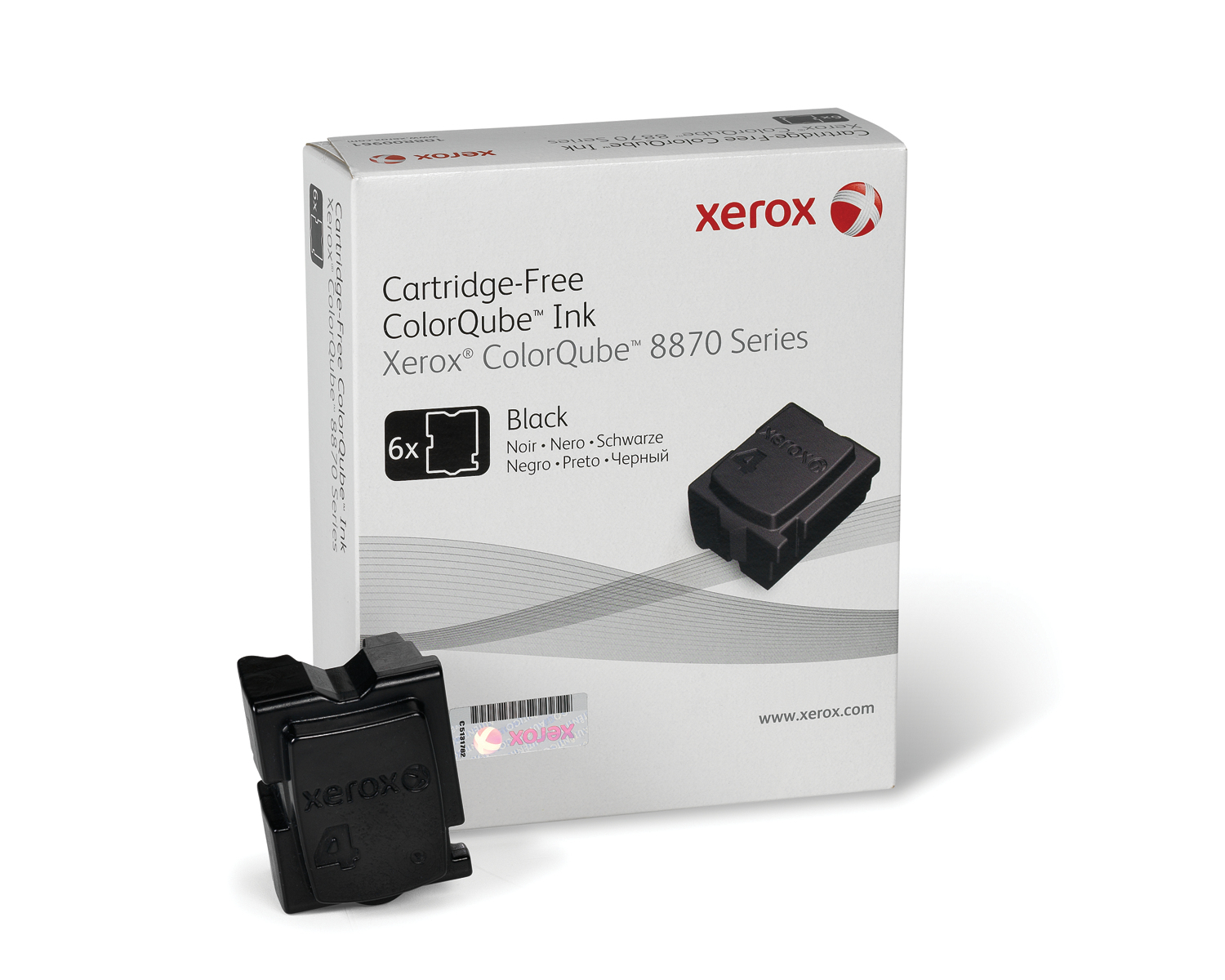 Xerox ColorQube 8870 ink, black (6 sticks 16700 pages)