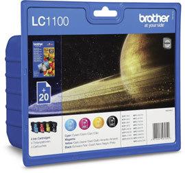 Tinte Brother LC-1100 VALBPDR Multipack (C/M/Y/BK)