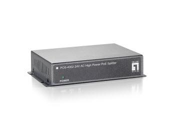 LEVEL ONE POS-4002 10/100Mbps High Power PoE Splitter 24V
