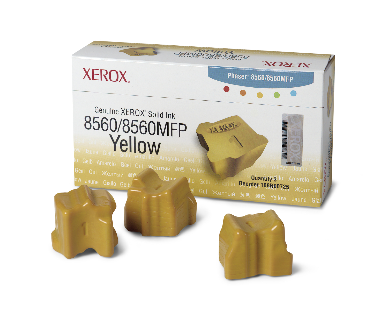 Xerox Genuine Solid Ink 8560MFP/8560 Yellow (3,400 Pages)
