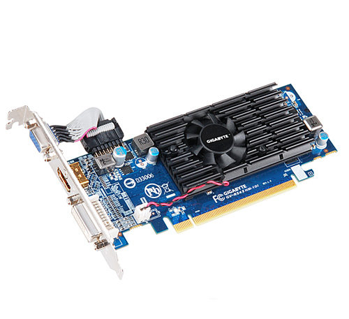 VGA-Card Radeon HD5450 512(1024)MB PCI-E D-Sub/DVI HDCP Fan Low Profile DDR3