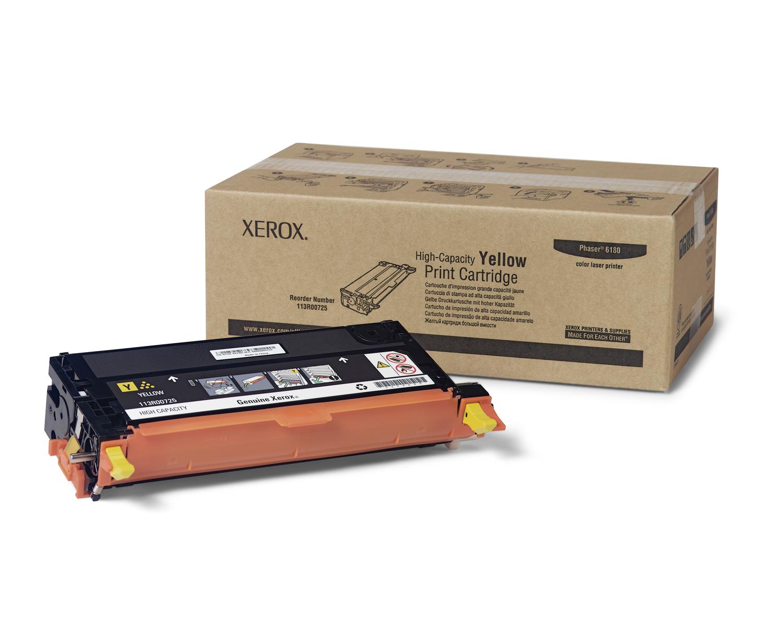 Laser Toner Xerox High-Capacity Printercartridge, Geel, Phaser 6180-Serie