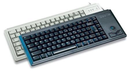 CHERRY Compact corded Trackball Keyboard PS/2 grey (DE)