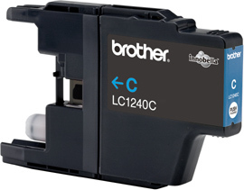 BROTHER LC-1240 Tinte cyan hohe Kapazit�t 600 Seiten 1er-Pack