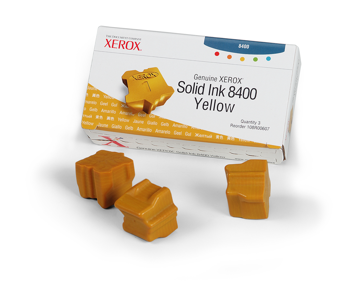 Xerox Yellow Ink (3 Per Box ) 8400