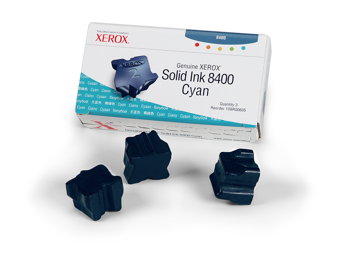Xerox Cyan Ink (3 Per Box ) 8400