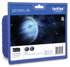 BROTHER LC1280XLBKBP2DR Twinpack 2 x schwarz MFC-J5910DW J6510DW J6710DW J6910DW