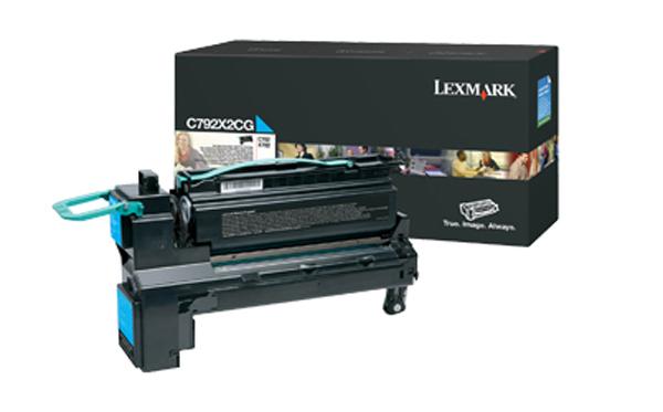 LEXMARK C792 Toner cyan Standardkapazität 20.000 Seiten 1er-Pack
