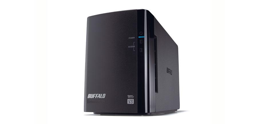 BUFFALO DriveStation Duo 4TB USB 3.0 2x 2TB HDD 8,9cm 3,5Zoll Festplatte RAID 0/1