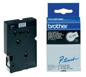 BROTHER P-Touch TC-201 schwarz auf weiss 12mm