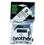 BROTHER MK221 Schriftbandkassetten 9mmx8m weiss schwarz nicht laminiert fuer P-touch 60 65 75 80 85 110